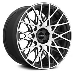 Fittipaldi Fsf08 Mb 20x10.5 5x120 Et+45 Mach Face/gloss Black Accents Qty Of 1