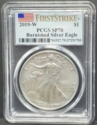 2019-w Pcgs Sp70 Burnished Silver Eagle First Strike