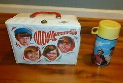 Vintage 1967 The Monkees Vinyl Lunch Box And Thermos