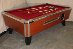 7and039 Valley Coin-op Pool Table Model Zd-8 Rosewood New Red Cloth Avail In 6.5and039+8and039