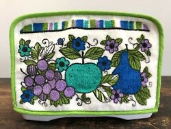 Vintage Georges Briard Style Toaster Cover Mid-century Mod Mcm 50s/60s Fruit