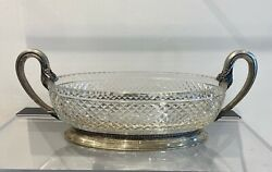Jardinier Silver 800 With Baccarat Crystal