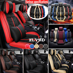 Luxury Pu Leather Car Seat Cover For 5-sit Auto Suv Anti-slip Frontandrear Cushion