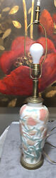 Consolidated Chrysanthemum Lighted Vase/lamp 13 Tall