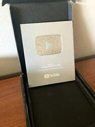 Authentic Youtube Silver Play Button 100000 Subs Award