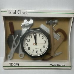 Vintage Telesonic Tool Wall Clock Unopened Garage Shop Battery Operated