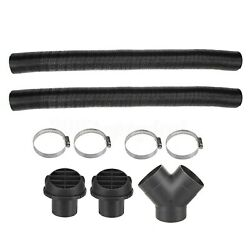 75mm Heater Pipe Ducting Y-branch Warm Air Outlet Vent Kit For Webasto Diesel