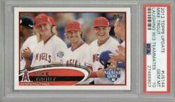 2012 Topps Update All-star Game Us144 Mike Trout Sp Laughing Variation Psa 10🔥