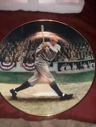 """Babe Ruth """"The Called Shot"""" Delphi Collectors Plate NY YANKEES 6244e"""