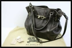 Large Belted Leather Tote 2way Bag Calf _43387