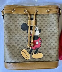 GUCCI xDisney Mickey Mouse Collaboration Shoulder Bucket Leather Limited NEW $1750.00