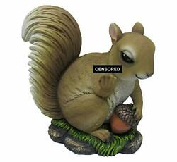Nutty Welcome Adorable Offensive Squirrel With Acorn Flipping The Bird Statue M