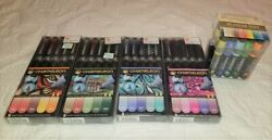 Chameleon Markers LOT of Color Tops by Anna Griffin sets Floral Blue Warm Nature