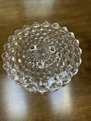Fostoria American Clear Glass Triple Footed Cake Plate Platter 12 2056