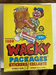 Wacky Packages 1988 O Pee Chee Collectible Stickers Factory Sealed Box 36 Packs