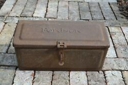 Vintage Ford Fordson Tractor Tool Utility Box Antique Farm Collectible 1910s-20s