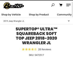 Jeep Wrangler Unlimited 2018-2020 Soft Top