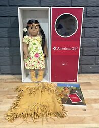 American Girl Doll Kaya - With 2 Outfits - Indian Dress W/ Box And Book