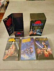 Star Wars Trilogy Vhs 1990 Cbs Fox Release - 3 Tapes Sealed, Outer Box Open Read