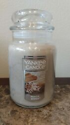 Yankee Candle BEACH WOOD 22oz New Free Priority Shipping