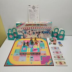 Vintage Meet Me At The Mall Shopping Board Game 1990 Tyco 100 Complete