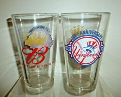 Ny Yankees 100th Anniversary 1903-2003 Collectible Glass Set Of Two 2