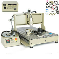 4 Axis Cnc 6090 Router Engraver Engraving Mill Drill Machine Usb Port 2.2kw Vfd