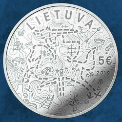 Lithuania - Scouting - Scout - 5 Silver Pp / Proof Scouts