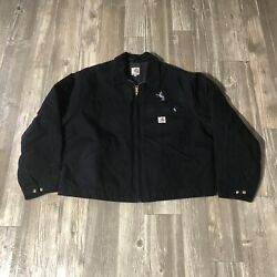 Jacket Blanket Lined Zip Canvas Black Usa 2xl Embroidered Chore Read