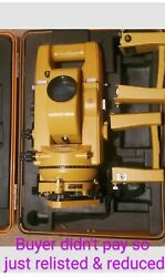 Topcon Gts-2 Theodolite Total Station W/ Case And Additional Batteries Relisted