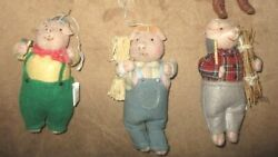 Holiday The 3 Little Pigs Plush Ornaments Christmas Decoration
