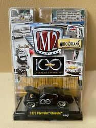 RARE M2 MACHINES 100 YEARS BLACK 1970 CHEVROLET CHEVELLE DIECAST CAR NEW ON CARD