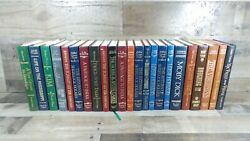 Lot Of 23 Vintage Readers Digest Leather Bound Hardcover Books Mint Condition