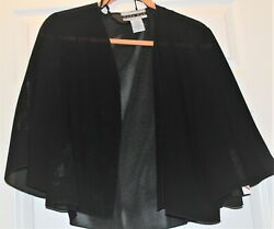 Black Evening Cape New with tags Short Size 10 $18.00