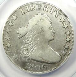1806 Draped Bust Half Dollar 50c Coin O-105 - Certified Anacs F15 Details