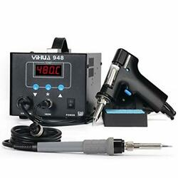 Yihua 948 2 In 1 Esd Safe 80w Desoldering Station And 60w Soldering Iron- Desold
