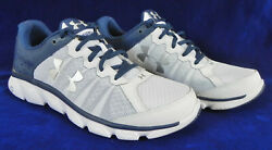 Under Armour Assert 6 Menand039s Running Shoes Sz. 9.5 Micro G Soles White/blue
