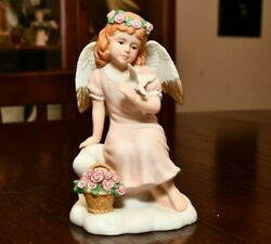 Angel Figurine W/ Dove Home Interiors And Gifts Angelic Peace 14063-99 Boxed