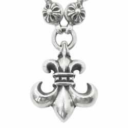 Chrome Hearts Necklace No Original Cross Ball Bsf Silver System Secondhan _80951