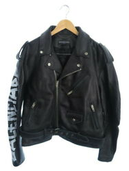 Balenciaga Painted Biker Jacket Leather Riders Size44 485711 Twh15 18ss M _54231