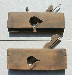 Antique Wooden Hand Planes Lot Of Two F.p Brown/ G F Smith