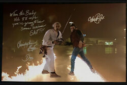 Huge Michael J Fox/christopher Lloyd Signed 20x30 Photo Back To The Future Proof