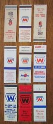 Marathon Gas Stations Lot Of 9 Different Matchbook Matchcover From Indiana -g15