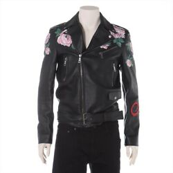 Razor Leather Jacket 44 Mens Black Thorn With Name Butto _30268