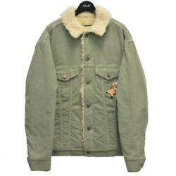 Paramount Embroidered Bore Denim Tracker Jacket Green Si _30575