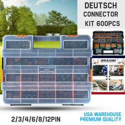 Usa 600 Pcs Genuine Deutsch Dt Connector Kit 14-16awg Stamped Contacts