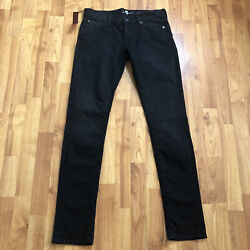 7 For All Mankind Black Roxanne Skinny Jeans Womens Size 28 / Inseam 32 New