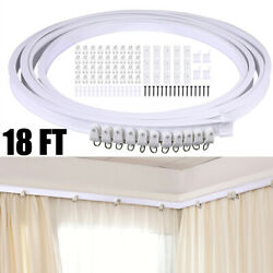 Ceiling Curtain Track Window Rod Rail System Room Divider Numerous Hooks Privacy