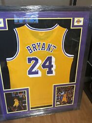 Kobe Bryant Rare 24 Signed Framed Yellow Jersey Steiner Sports Certified