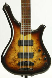 Mayones Comodous 5st Poplar Burl Top And Ash Back Used Electric Bass
